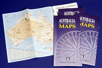 AUSTRALIA MAPS - BROCHURE GUIDE for the TOURIST